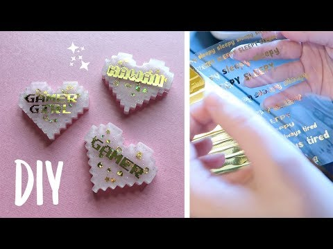 How To Make Foiled Transparency Inserts for Resin Charms | Resin Sticker Tutorial