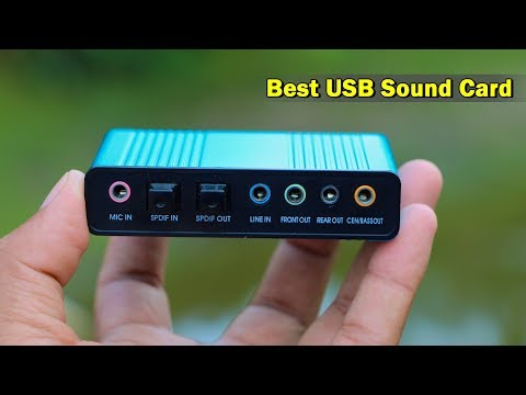 Professional USB Sound Card-Super Bass Sound Card For PC Laptop Speaker