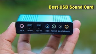 Professional USB Sound Card-Super Bass Sound Card For PC Laptop Speaker