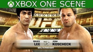 Bruce Lee vs Josh Koscheck - Full Fight - EA Sports UFC 2014 - Gameplay - XBOX ONE