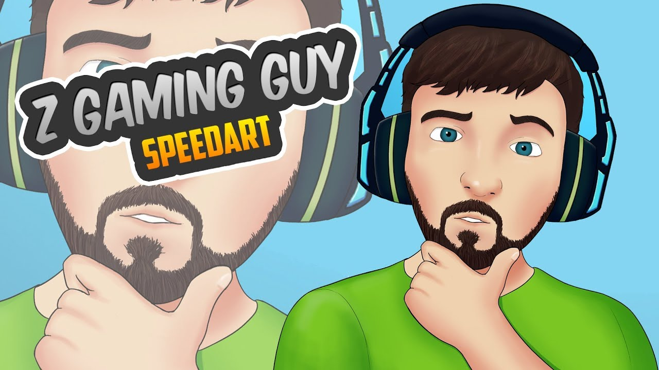 Z Gaming Guy Speed Art Profile Picture Giveaway Youtube