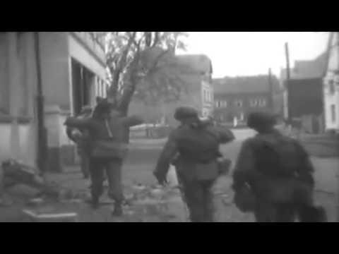 WW2 U.S. Army Infantry Advance To Ruhr River, Bochum, Germany, 4/12/1945 (full)