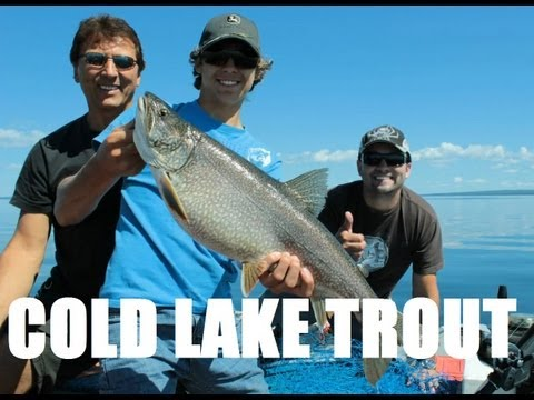 Crazy Cold Lake Trout Action