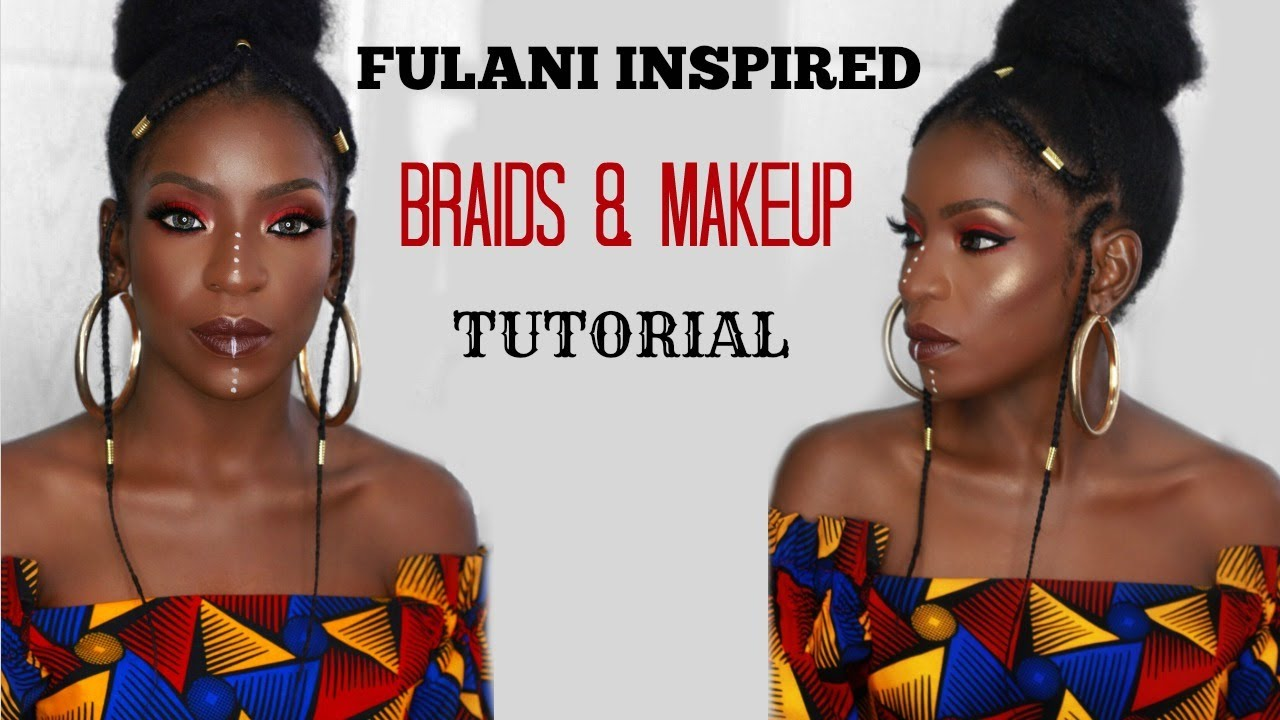Fulani Inspired Braids Amp Makeup Tutorial Youtube
