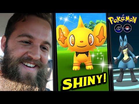 IT JUST KEEPS GETTING BETTER! - GEN 4 SHINY SHINX + LUCKY LUCARIO (POKEMON GO) thumbnail