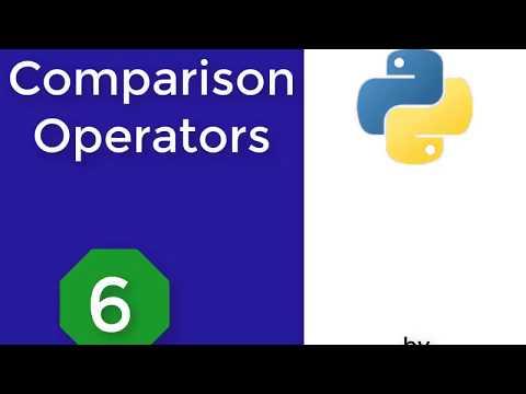 Python programming language For beginners:6- Comparison Operators