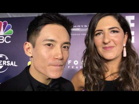 Golden Globes Interview Manny Jacinto and D'Arcy Carden The Good Place