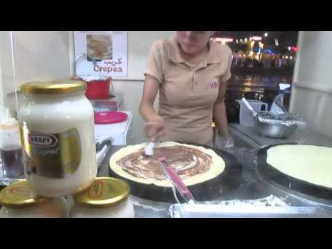 Making Nutella + Chease Rotty at Global Village, Dubai