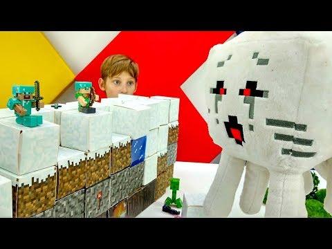 Секреты игры Майнкрафт - Стив и Алекс против мобов!