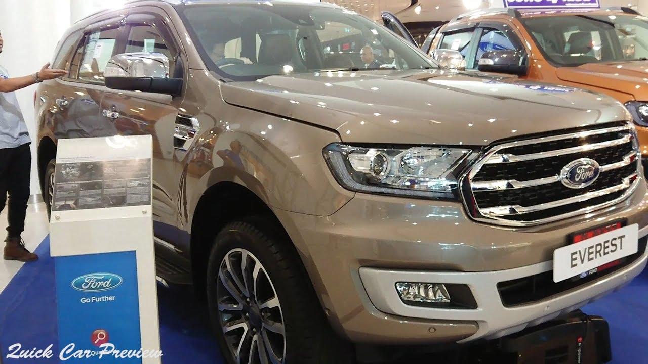 Quick Preview 2019 Ford Everest 2 0 Bi Turbo Titanium 4x4 Diffused Silver Metallic