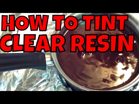 How to tint clear resin tutorial - Best way to dye clear resin