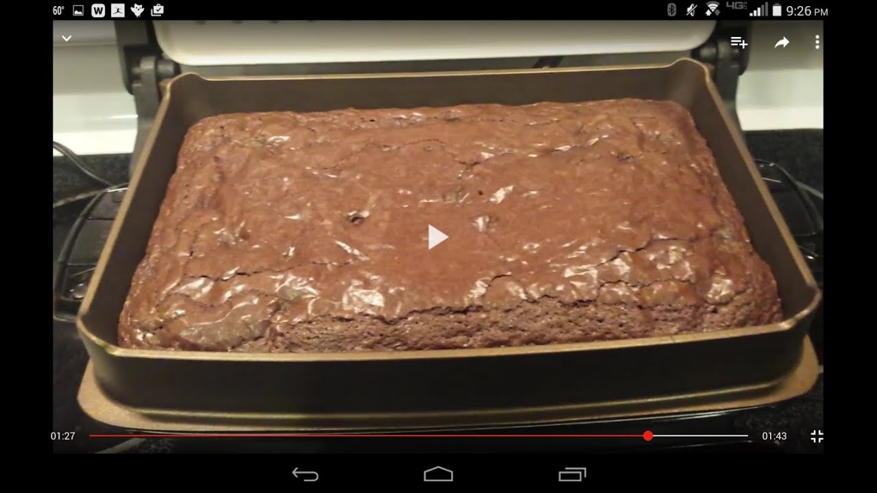 Ghirardelli Brownies In George Foreman Using Deep Dish