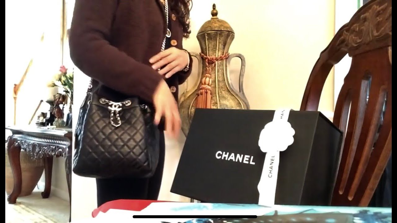 f55713d4f75d Chanel Bucket Drawstring Bag - YouTube