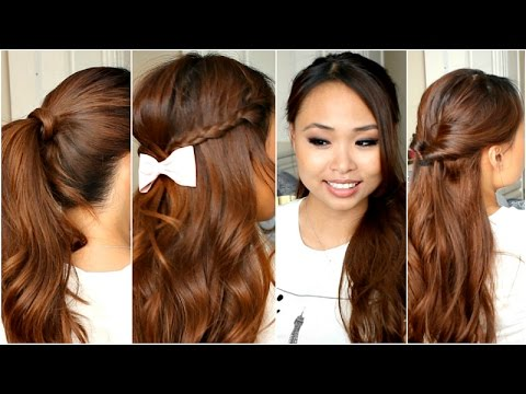 5 easy hairstyles school