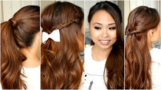 5 Easy Hairstyles for School No Heat Thumbnail