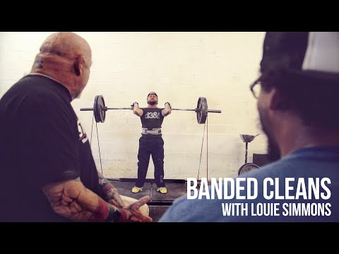 Banded Cleans w Louie Simmons of Westside Barbell