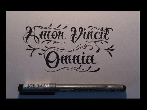 Amor Vincit Omnia Lettering