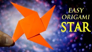 How To Make An Easy Origami 4-pointed Star