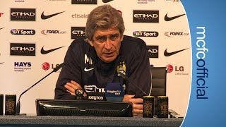 YAYA INJURY UPDATE | City v Sunderland Manuel Pellegrini press conference 1