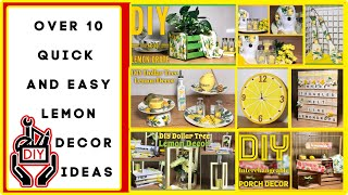 Over 10 Dollar Tree Diy Summer Lemon Farmhouse Decor Craft Ideas | Simple & Easy Diys | Simple Diyer