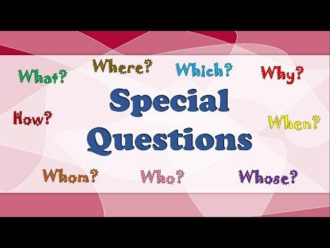 Спеціальні запитання в англійській мові.