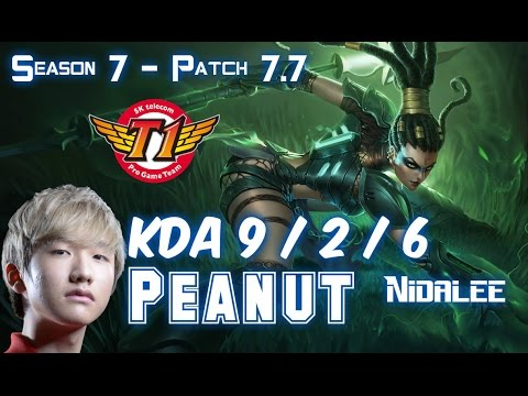 SKT T1 Peanut NIDALEE vs LEE SIN Jungle