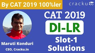 CAT 2019 Slot-1 DILR Solutions By 100%ler | Excellent Explanation
