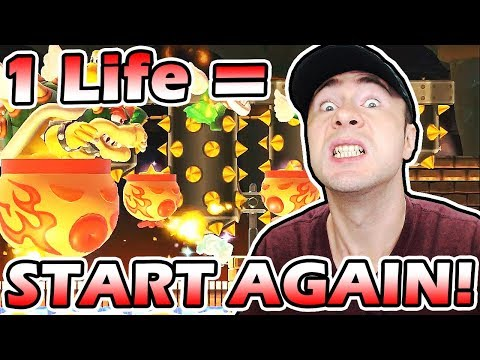 Sadness ~ 1 LIFE LOST = START OVER (#4) // Super Mario Maker 100 Mario NORMAL Challenge