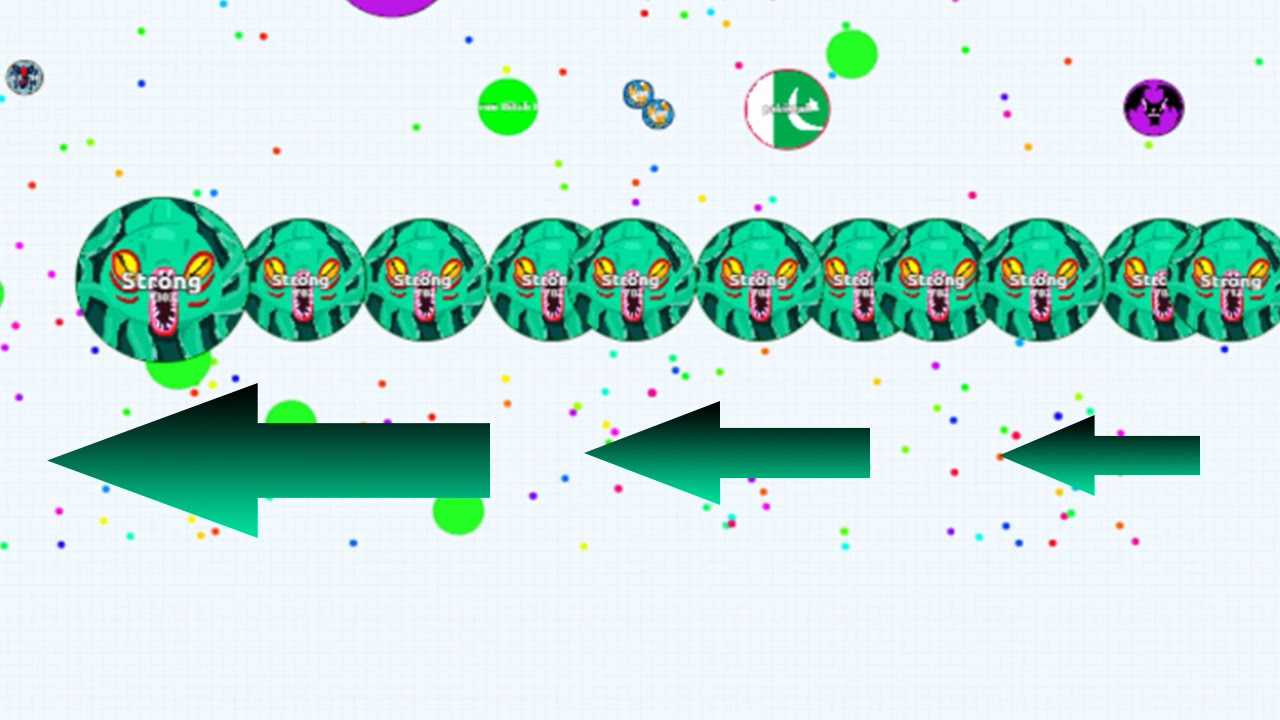 Agario Moving All Cells In A Straight Line After Line Split