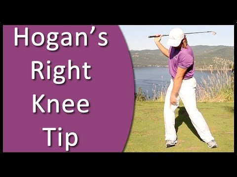 Golf for Beginners - Ben Hogan's Right Knee Backswing Tip (From Golf's #1 Instruction System - RST)