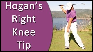 golf for beginners ben hogan s right knee backswing tip from golf s 1 instruction system rst