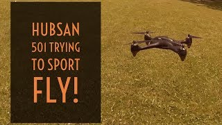 Video Drone - Hubsan 501s Trying To Sport Fly!