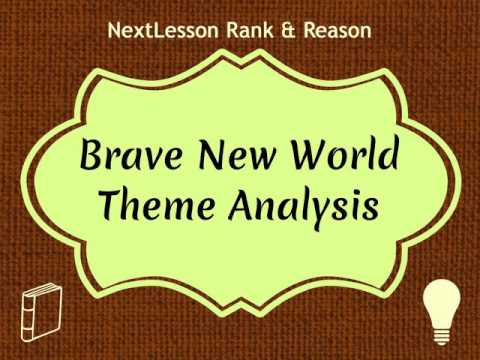 brave new world guiding philosophies of Aldous huxley's book brave new world strongly, the vast majority of the population is unified under the world state, an eternally peaceful, stable global society in which goods and resources are plentiful and everyone is happy.