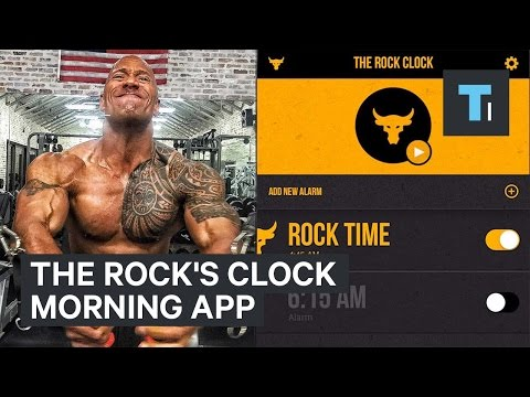 The Rock's clock morning app