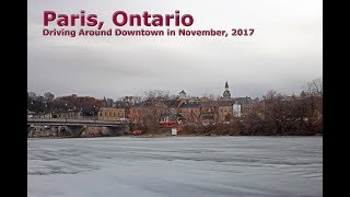 Paris, Ontario: Downtown Drive In November, 2017