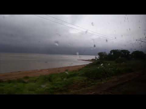 Океанская - Первая Речка с окна электропоезда ЭД9М-0159.