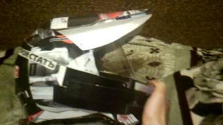 мотошлем из бумаги