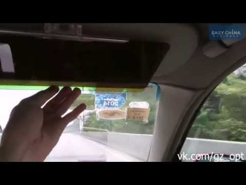 Обзор Антибликовый козырек для автомобиля HD Vision Visor Clear View Cut1