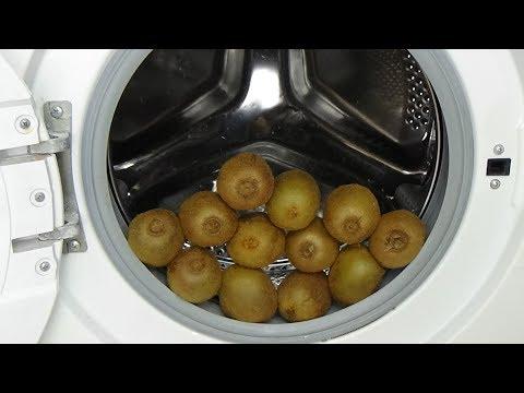 Test - experiment- kiwi's in a washing machine - kiwi juice by centrifuge, movie #70
