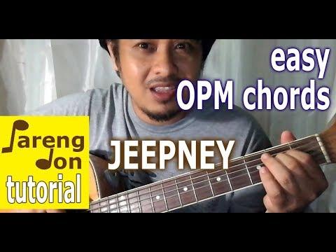 Jeepney Chords Sponge Cola Easy Opm Guitar Tutorial Youtube