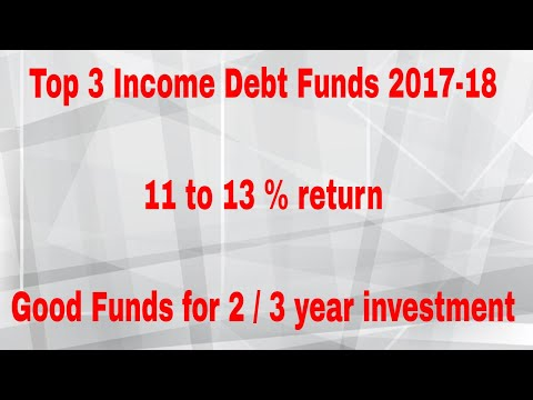 Top 3 Income Debt Funds 2018 | Good Funds for 2 to 3 year investment