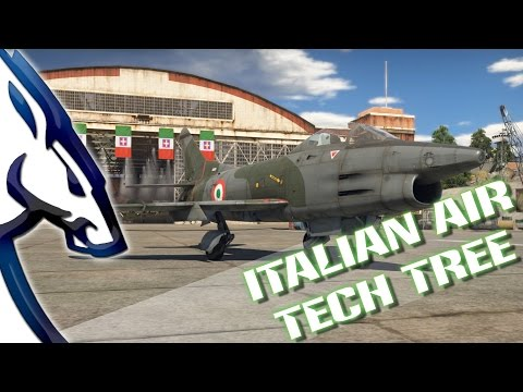 War Thunder: Italian Air Tech Tree (1.69 Dev Server)