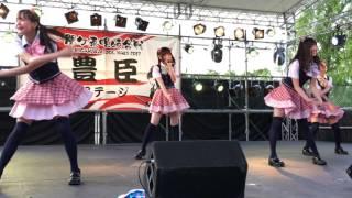 関ヶ原唄姫合戦2017 桃配運動公園 Pエリア最前列から撮影 iPhone6sで撮影.