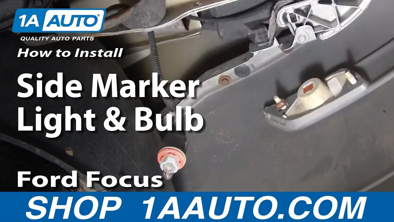 How To Replace Side Marker Light 00 04 Ford Focus Youtube