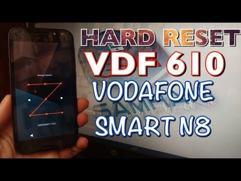 HARD RESET VDF 610 VODAFONE SMART N8  | Remove Lock Screen | Pin | Pattren | Password