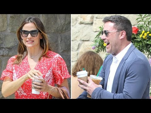 Ben Affleck Stops To Get Jennifer Garner A Coffee Before Easter Church Services!