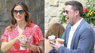 Ben Affleck Stops To Get Jennifer Garner A Coffee Before Easter Church Services!