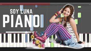 Soy Luna Profugos Piano midi tutorial sheet partitura Soda Stereo how to Play 2
