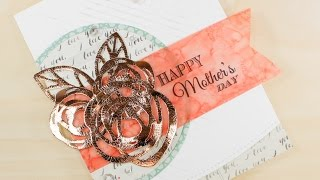 Dimensional Foiled Embellishments With Deco Foil