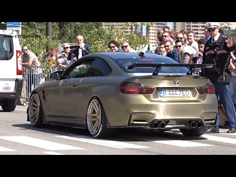CUSTOM GOLD Bmw M4 in Monaco !